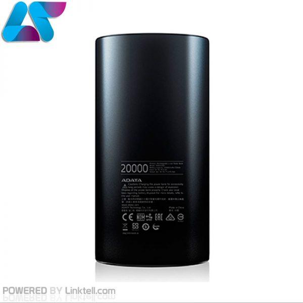 شارژر همراه اي ديتا مدل P20000D ظرفيت 20000 ميلي آمپر ساعت