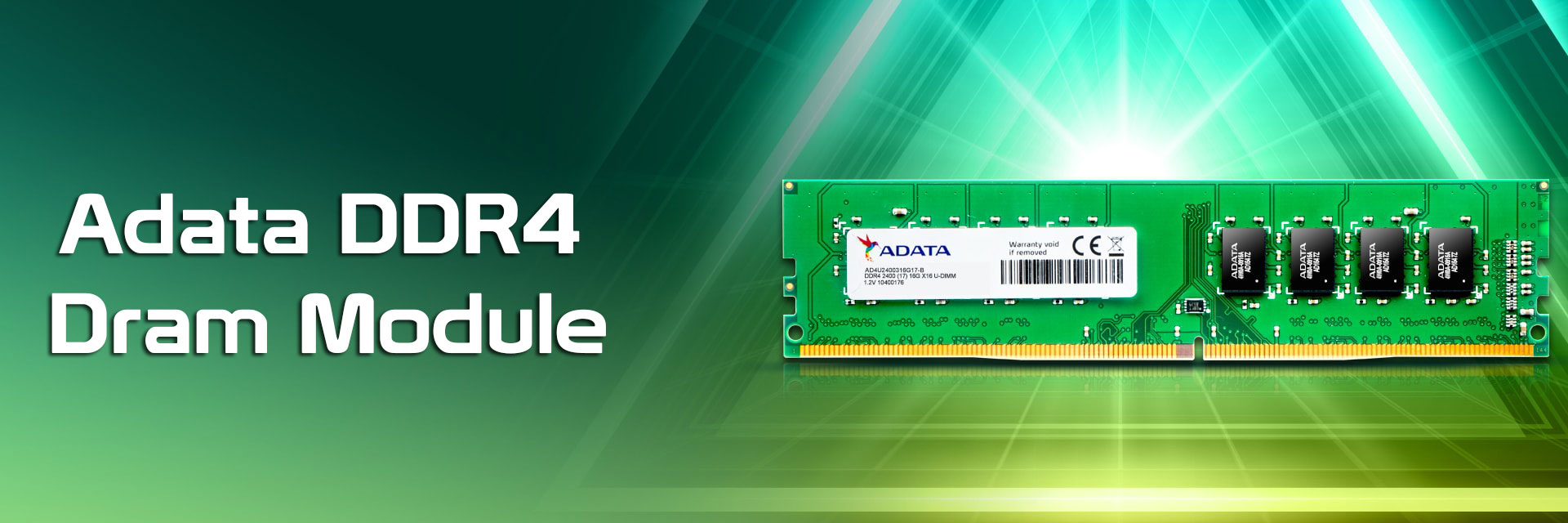 رم کامپيوتر اي ديتا مدل Premier DDR4 2400MHz 288Pin U-DIMM