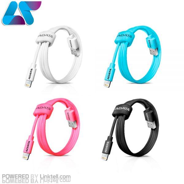 کابل تبدیل USB به لایتنینگ پلاستیکی ای دیتا مدل Sync And Charge طول 1 متر