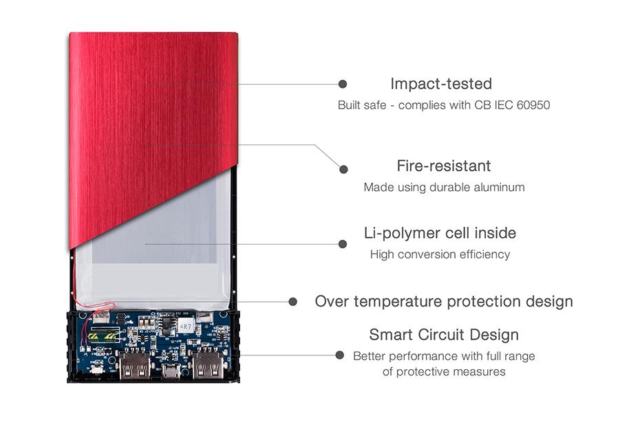 شارژر همراه ای دیتا مدل X7000 ظرفیت 7000 میلی آمپر ساعت