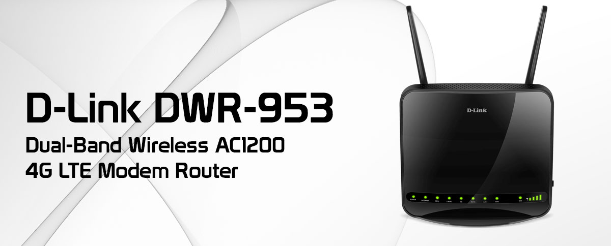 D-Link DWR‎-953 Dual-Band Wireless AC1200 4G LTE Modem Router