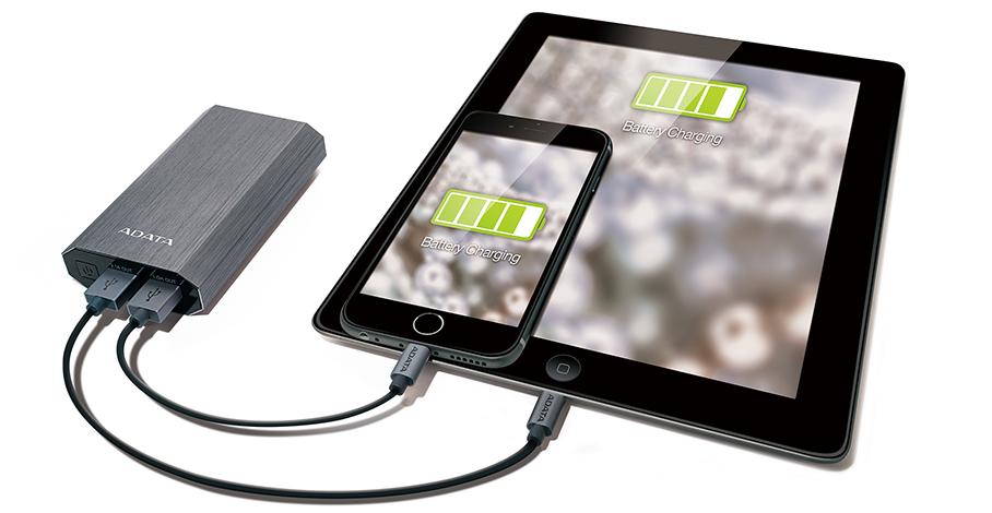 شارژر همراه ای دیتا مدل A10050 ظرفیت 10050 میلی آمپر ساعت