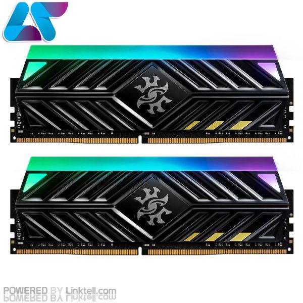 حافظهی رم اورکلاک DDR4 ای دیتا تک کاناله 2666 مگاهرتز CL16 مدل Spectrix D41 ظرفیت 8 گیگابایت