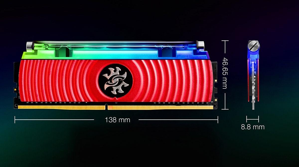 رم دسکتاپ DDR4 ای دیتا تک کاناله 3000 مگاهرتز CL16 مدل Spectrix D80 ظرفیت