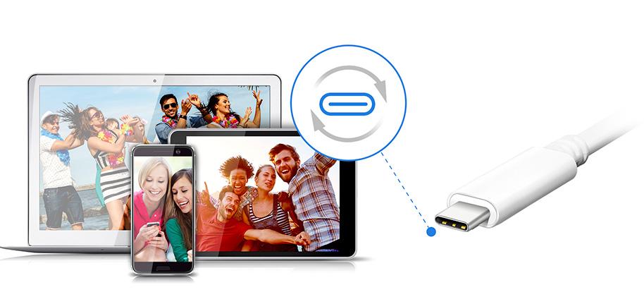 مبدل ای دیتا USB-C به USB 3.1 و HDMI و USB-C