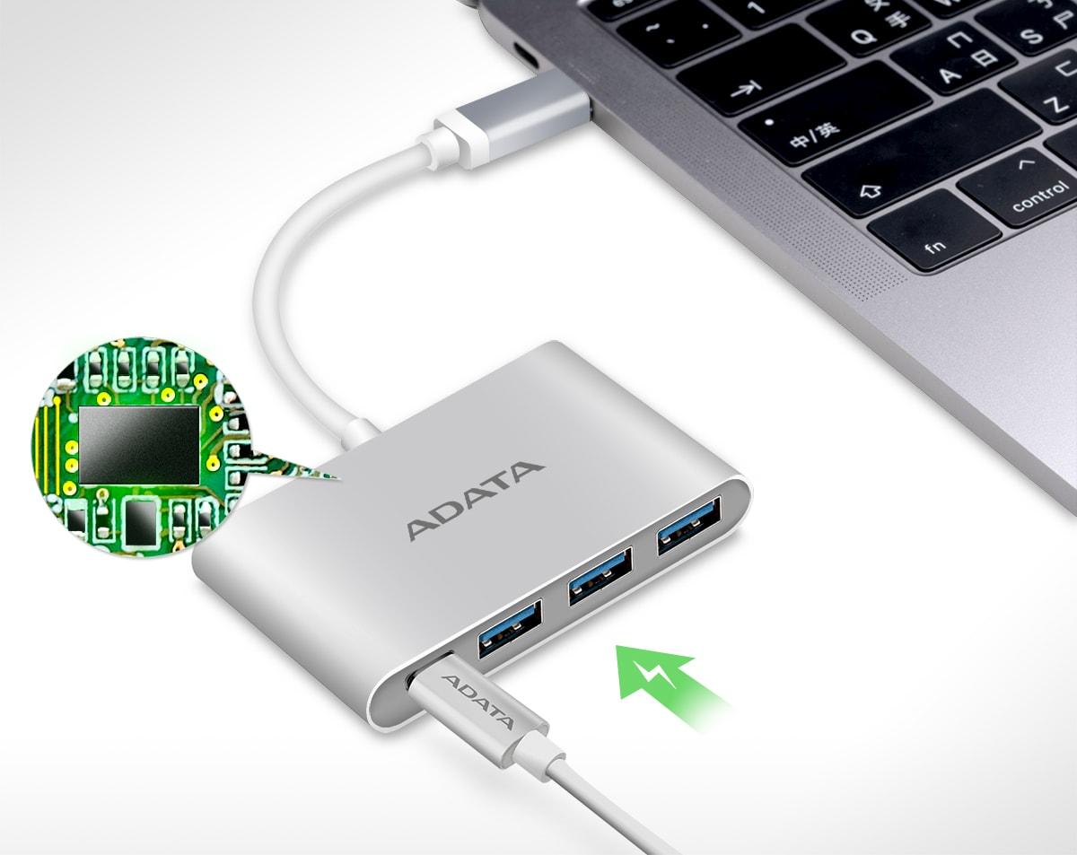 مبدل ای دیتا USB-C به 3 پورت USB-A 3.1