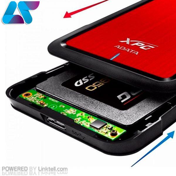 هاردباکس اکسترنال مقاوم ای دیتا مدل EX500 مبدل SATA به USB 3.1