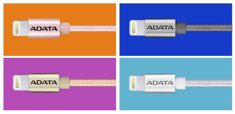 کابل تبدیل USB به لایتنینگ ای دیتا مدل Sync And Charge طول 1 متر