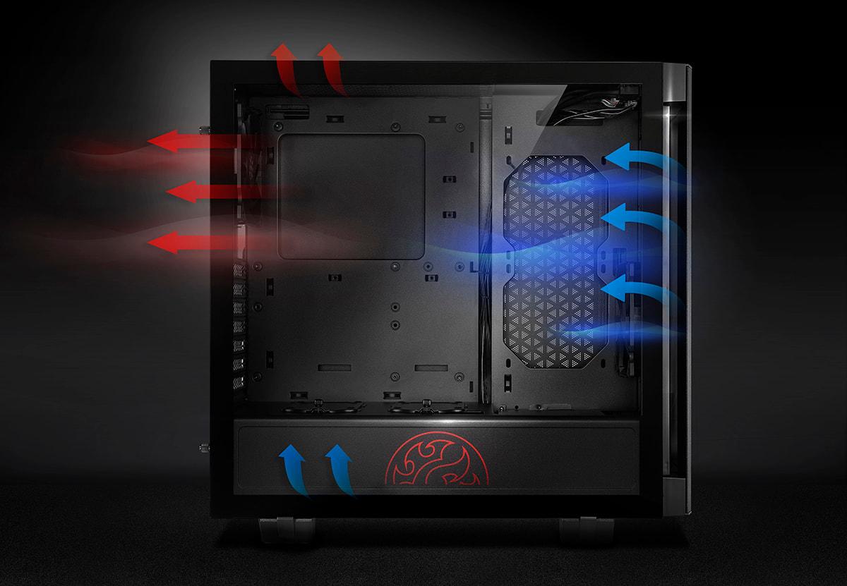 کیس گیمینگ مدیوم تاور ای دیتا مدل XPG INVADER