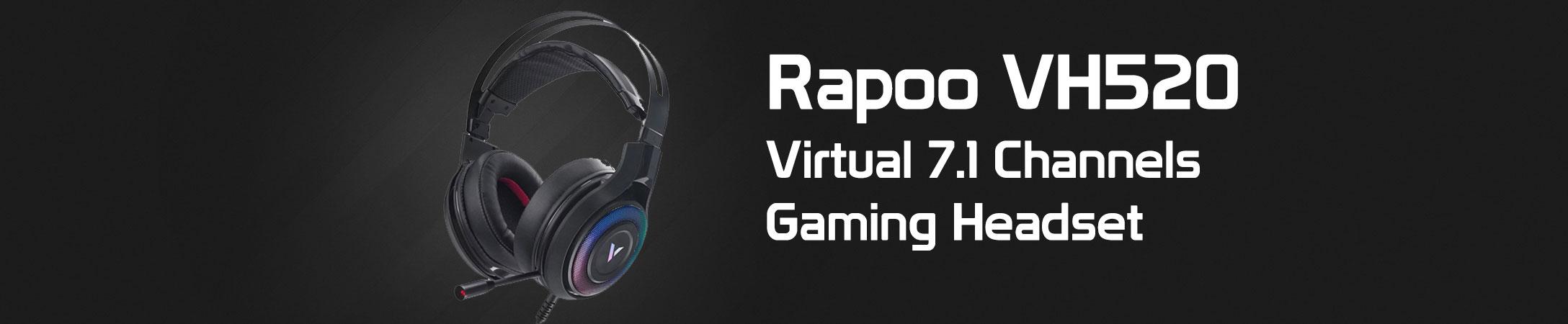 هدست گیمینگ باسیم 7.1 مجازی رپو مدل VH520