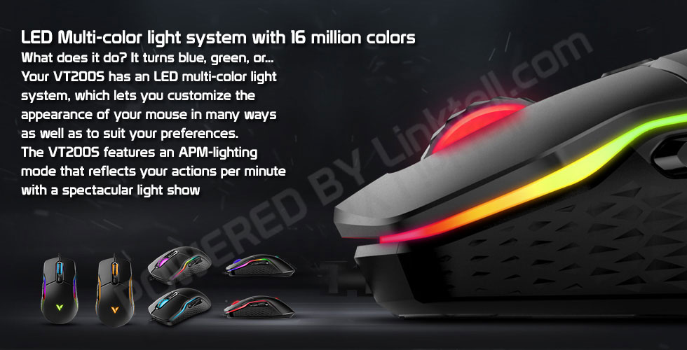 ماوس گیمینگ باسیم رپو مدل VT200S