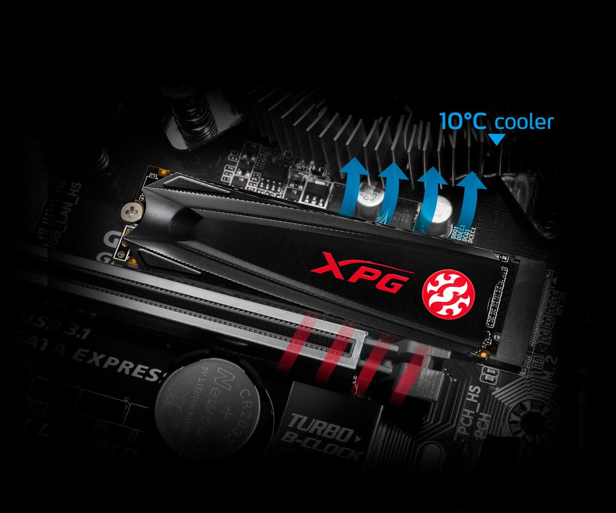 اس اس دی اینترنال ایکس پی جی مدل GAMMIX S5 PCIe Gen3x4 M.2 2280