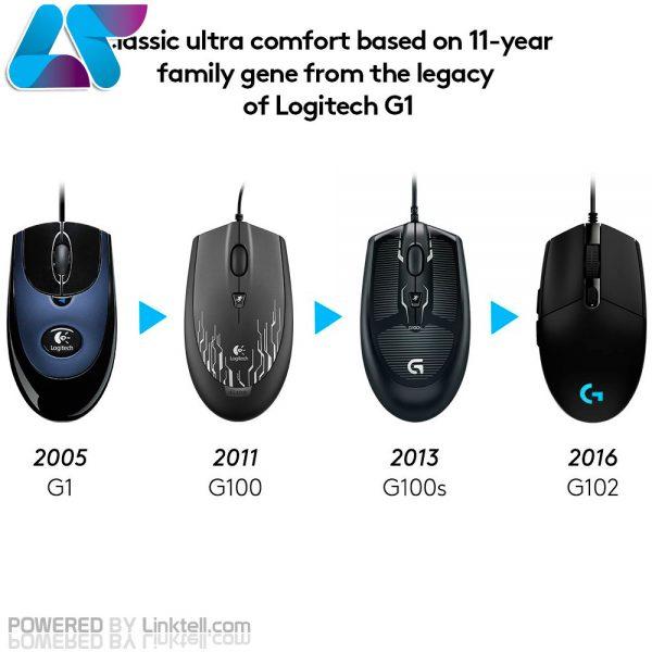 ماوس مخصوص بازی لاجیتک مدل G102 PRODIGY