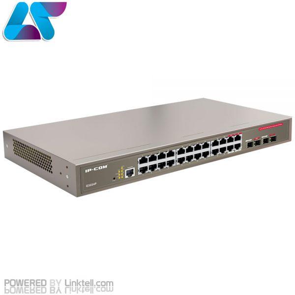 سوییچ مدیریتی 24 پورت 10/100/1000 آی پی کام مدل G3224P
